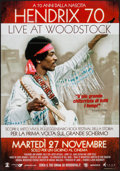 """Movie Posters:Rock and Roll, Hendrix 70: Live at Woodstock (Omniverse Vision, 2012). Italian 2 - Foglio (39"""" X 55""""). Rock and Roll.. ..."""