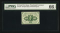Fractional Currency:First Issue, Fr. 1242 10¢ First Issue PMG Gem Uncirculated 66 EPQ.. ...