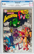 Silver Age (1956-1969):Superhero, Showcase #62 The Inferior Five - Don/Maggie Thompson Collection pedigree (DC, 1966) CGC NM 9.4 White pages....