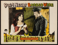 """Barbed Wire (Paramount, 1927). Lobby Card (11"""" X 14""""). War"""