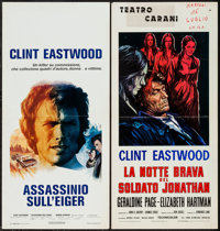 """The Beguiled & Other Lot (Universal, 1971). Italian Locandinas (2) (13"""" X 27.5""""). Thriller. ... (Total: 2..."""