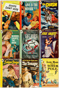 Books:Pulps, [Vintage Paperbacks]. Group of Nine Vintage Bantam Paperbacks. NewYork: Bantam, [1940s]. Includes works by Gruber, Gilbert ...(Total: 9 Items)