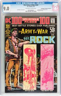 Our Army at War #242 Don/Maggie Thompson Collection pedigree (DC, 1972) CGC VF/NM 9.0 Off-white to white pages