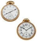 Timepieces:Pocket (post 1900), Two Hamilton's 21 Jewels Series 992 Pocket Watches Runners. ... (Total: 2 Items)