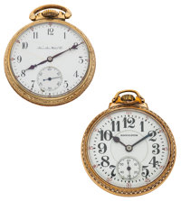 Two Hamilton's 21 Jewels Series 992 Pocket Watches Runners