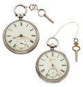 Timepieces:Pocket (pre 1900) , Liverpool & Parsonstown Lever Fusee's. ... (Total: 2 Items)