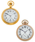 Timepieces:Pocket (post 1900), Two Illinois 23 Jewel Bunn Specials Runners. ... (Total: 2 Items)