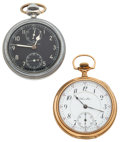 Timepieces:Pocket (post 1900), Two Hamilton's Model 23 & 17 Jewel. ... (Total: 2 Items)