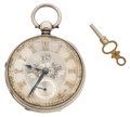 Timepieces:Pocket (pre 1900) , Swiss Hallmarked Silver Lever Fusee. ...