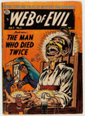 Golden Age (1938-1955):Horror, Web of Evil #5 (Quality, 1953) Condition: Apparent VG....