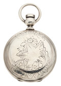 Timepieces:Pocket (pre 1900) , Illinois Watch Co. Key Wind Hunter's Case Pocket Watch. ...