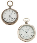 Timepieces:Pocket (pre 1900) , Waltham & National Watch Co. Pocket Watches Runners. ...(Total: 2 Items)
