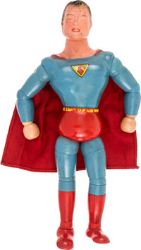 Superman Wood and Composition Jointed Doll (Ideal Toys, 1940).... (Total: 2 Items)