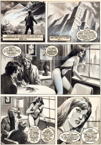 "Anton Caravana Vampirella #100 ""Call It Chaos"" Page 10 Original Art (Warren, 1981)"