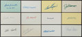 Baseball Collectibles:Others, Baseball Greats Signed Index Cards Lot of 13....