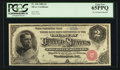 Large Size:Silver Certificates, Fr. 240 $2 1886 Silver Certificate PCGS Gem New 65PPQ.. ...