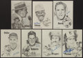 Baseball Collectibles:Photos, Baseball Greats Signed Prints Lot of 7....