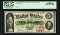 Large Size:Legal Tender Notes, Fr. 61a $5 1862 Legal Tender PCGS Gem New 65PPQ.. ...