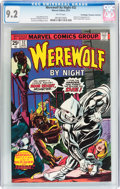 Bronze Age (1970-1979):Horror, Werewolf by Night #32 Don/Maggie Thompson Collection pedigree(Marvel, 1975) CGC NM- 9.2 White pages....