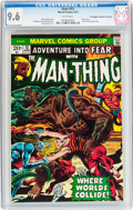 Bronze Age (1970-1979):Horror, Fear #13 Man-Thing - Don/Maggie Thompson Collection pedigree(Marvel, 1973) CGC NM+ 9.6 White pages....