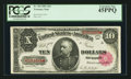 Large Size:Treasury Notes, Fr. 369 $10 1891 Treasury Note PCGS Extremely Fine 45PPQ.. ...