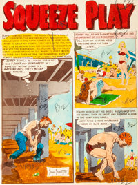 "EC Shock SuspenStories #13 ""Squeeze Play"" Complete Frank Frazetta Story Silverprint Proof Group (EC, 1954)..."