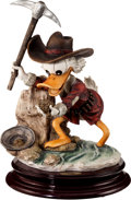 Memorabilia:Disney, Carl Barks Eureka Limited Edition Uncle Scrooge Figurine and Signed Print #576/3000 (Florence Scultere d'Arte, 199... (Total: 2 Items)