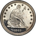 Patterns, 1863 25C Quarter Dollar, Judd-335, Pollock-407, High R.7 -- Bent --NGC Details. Proof....