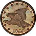 Patterns, 1855 1C Flying Eagle Cent, Judd-170a, R.7, PR65 NGC. CAC....