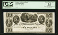 Obsoletes By State:Pennsylvania, Waynesburg, PA- Farmers & Drovers Bank $10 G14 Hoober 433-12 Proof. ...