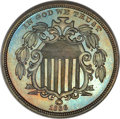 Patterns, 1866 5C Shield Five Cents, Judd-508, Pollock-592, High R.6, PR66 Brown NGC. CAC....