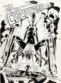 Steve Rude and John Nyberg Nexus #19 Splash Page 1 Original Art (First, 1986)