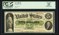 Large Size:Demand Notes, Fr. 2 $5 1861 Demand Note PCGS Apparent Very Fine 35.. ...