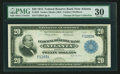 Fr. 822 $20 1915 Federal Reserve Bank Note PMG Very Fine 30