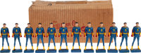 Captain Marvel Jr. Syroco-Style Figure Group with Original Box (R. W. Kerr Co., 1946). ... (Total: 13 Items)