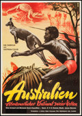 "Movie Posters:Documentary, Under the Southern Cross (Rank, 1955). German A1 (23.5"" X 33""). Documentary.. ..."