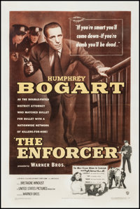 "The Enforcer (Warner Brothers, 1951). One Sheet (27.5"" X 41""). Film Noir"