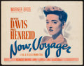 """Movie Posters:Romance, Now, Voyager (Warner Brothers, 1942). Title Lobby Card (11"""" X 14""""). Romance.. ..."""