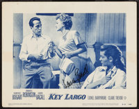 "Key Largo (Warner Brothers, R-1953). Autographed Lobby Card (11"" X 14""). Film Noir"