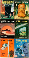 Books:Pulps, [Pulps]. Six Issues of Astounding Science Fiction.1945-1949. Octavos. Original printed wrappers. Some edgewear.Ver... (Total: 6 Items)