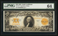 Large Size:Gold Certificates, Fr. 1187 $20 1922 Gold Certificate PMG Choice Uncirculated 64.. ...