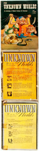 Books:Pulps, [Pulps]. Three Issues of Unknown Worlds. 1941-1948. Octavos. Original printed wrappers. Some edgewear. Very good. . ... (Total: 3 Items)
