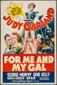 """For Me and My Gal (MGM, 1942). One Sheet (26"""" X 39.5"""") Style C. Musical"""