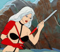 Animation Art:Production Cel, Heavy Metal Taarna Production Cel and Drawing withBackground Animation Art (Columbia, 1981).... (Total: 3 Items)