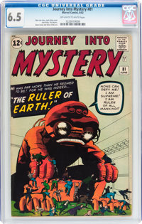 Journey Into Mystery #81 (Marvel, 1962) CGC FN+ 6.5 Off-white to white pages