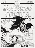 Original Comic Art:Covers, Mike DeCarlo Detective Comics #27 Cover Recreation OriginalArt (2014)....