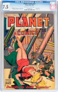Golden Age (1938-1955):Science Fiction, Planet Comics #53 (Fiction House, 1948) CGC VF- 7.5 Off-white towhite pages....