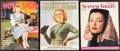 """Movie Posters:Miscellaneous, Movie Show & Others Lot (Hunter Publications, 1943). Magazines (3) (Multiple Pages, 10.25"""" X 13.25"""", 10.5"""" X 13"""", & 10.5"""" X ... (Total: 3 Items)"""