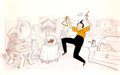 Animation Art:Production Cel, The Completely Mental Adventures of Ed Grimley Publicity CelAnimation Art (Hanna-Barbera, 1988).... (Total: 2 Items)