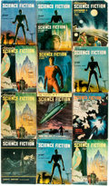 Books:Pulps, [Pulps]. Thirteen Issues of Astounding Science Fiction.1947-1948. Octavos. Original printed wrappers. Some edge... (Total:13 Items)